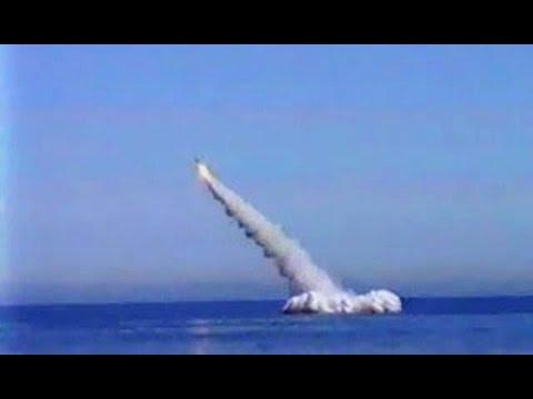 Пуск баллистической ракеты Булава. Start a ballistic missile SS-NX-30 Bulava.