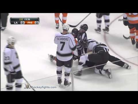 Dustin Penner vs Zac Rinaldo Oct 15, 2011