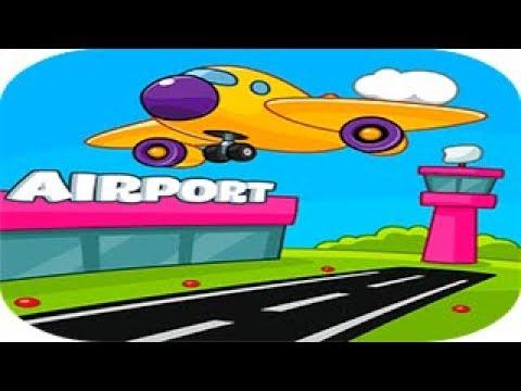 Аэропорт : детские авиалинии Путешествие Семьи Крокодилов Игровой мультик Детское видео let's play