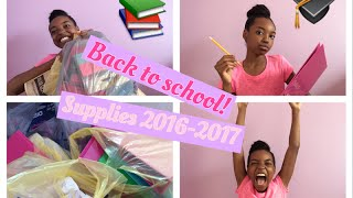 Back to school supplies for 6th grade! 2016-2017