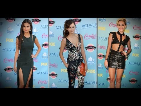 Nina Dobrev and Selena Gomez Get Sexy at Teen Choice Awards | Celebrity Style | Fashion Flash