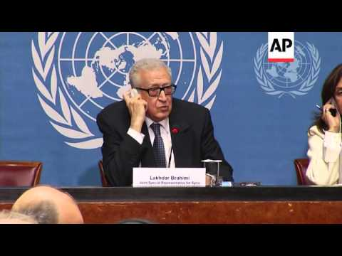 "Brahimi: Syria conference ""huge opportunity for peace that shouldn't be wasted"", SNC reax"
