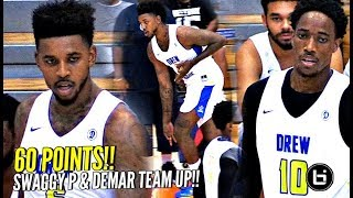 Nick Young Drew League DEBUT! Drops 60 POINTS w/ DeMar DeRozan!!! Young Kobe & Swaggy P!