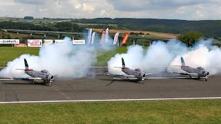 4 X F-86 GIANT SCALE RC TURBINE MODEL JET FLIGHT TO MUSIC AIRSHOW / Jetpower Fair 2016