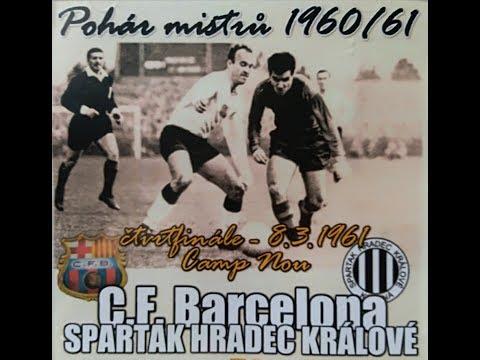 FC Barcelona - Spartak Hradec Králové - pohár mistrů 1960/61 + bonusy