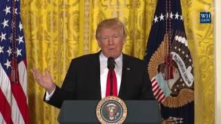 Donald Trump's press conference in full