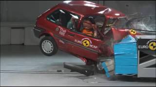1997 Rover 100 Crash Test Euro NCAP (20th Anniversary test)