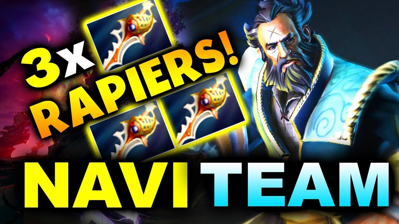 3x RAPIERS 75 MIN THROWS! - NAVI vs TEAM TEAM - ESL ONE MUMBAI 2019 DOTA 2