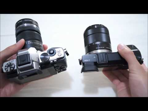 Olympus OM-D EM-5 vs. Sony NEX-7 Comparison Part 1: Handling. Size. Build. Screen. and EVF