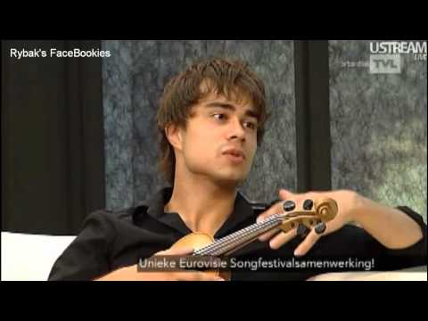 Alexander Rybak & Paula Seling interview on Belgian TV.  13.8.12