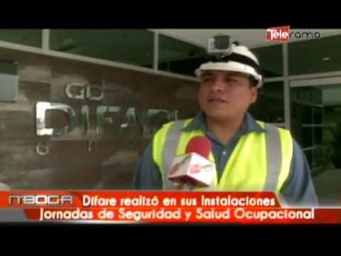 Difare realizó en sus instalaciones jornadas de seguridad y salud ocupacional