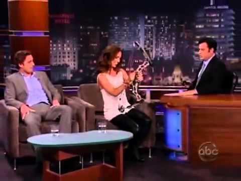 Eliza Dushku in Leather and OTK's On Jimmy Kimmel
