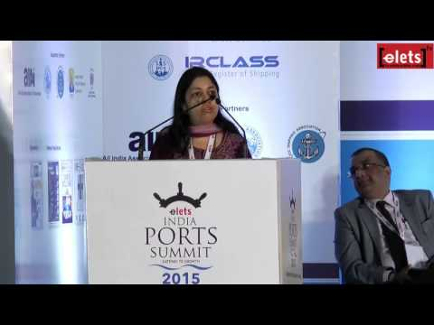 elets Ports Summit 2015 - Maritime Clusters: Ease of Doing Business - Manjuri Bhalerao...