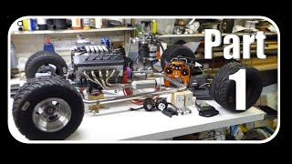 1/3 scale fuel injected 125cc V10 hybrid RC buggy, Part 1
