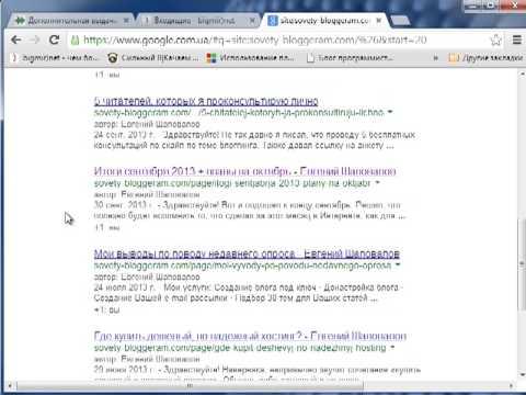 Основная и дополнительная выдача Google (supplemental) - Проверка индексации сайта