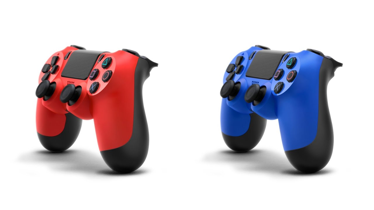 """New Dualshock 4 Controller Colors """"Wave Blue"""" and """"Magma"""