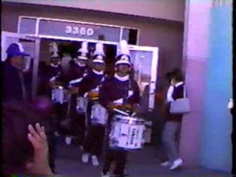 The 1989 Eldorado High School Marching Band Drumline Performs at a Local Store Opening