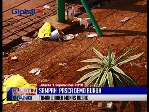 Pasca Demo Buruh, Sampah Berserakan Dan Ahok Ancam Pidanakan Perusak Taman - BIS 02/09