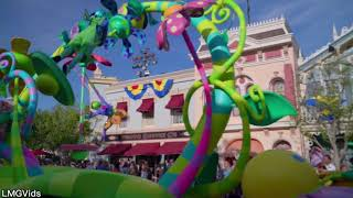 2018 Pixar Play Parade Returns! Disneyland Park: Inside Out, Luxo Lamp, Up! 60fps