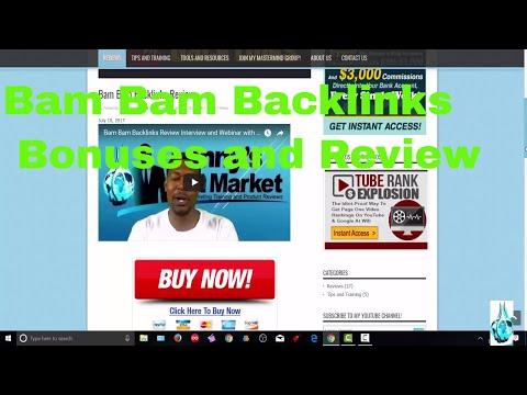 Bam Bam Backlinks Bonus Review and Members Area