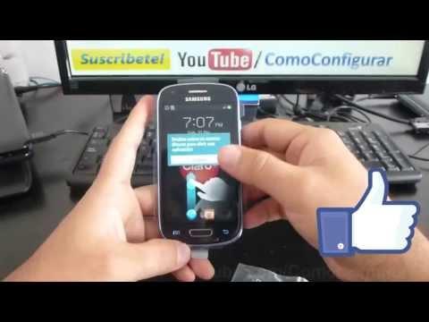 Cómo insertar la tarjeta Micro SD Samsung Galaxy S3 Mini español primera vista review Full HD