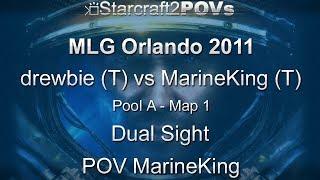 SC2 WoL - MLG Orlando 2011 - drewbie vs MarineKing - Pool A - Map 1 - Dual Sight - MarineKing