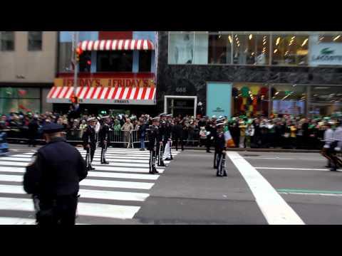 Xavier High School JROTC @ the St. Patrick's Day Parade