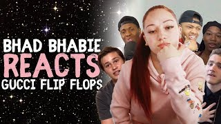 Bhad Bhabie Reacts To 34 Gucci Flip Flops 34 Ft Lil Yachty Roasts And Reaction Vids Danielle Bregoli