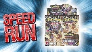 How fast can you open a Booster Box?! - Forbidden Light Pokemon TCG Speed Run
