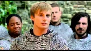Bradley James and the Cast of merlin - Behind the Scenes (Part 1)