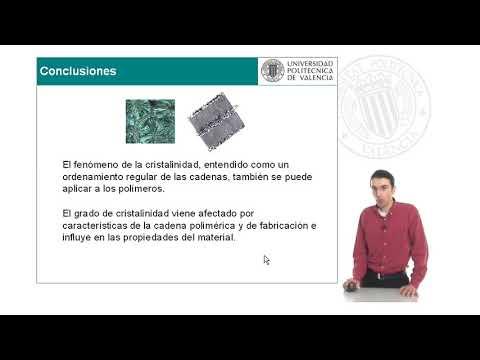 Ciencias de los Materiales 19. Polimeros y Compuestos. Materiales polimericos: cristalinidad.© UPV