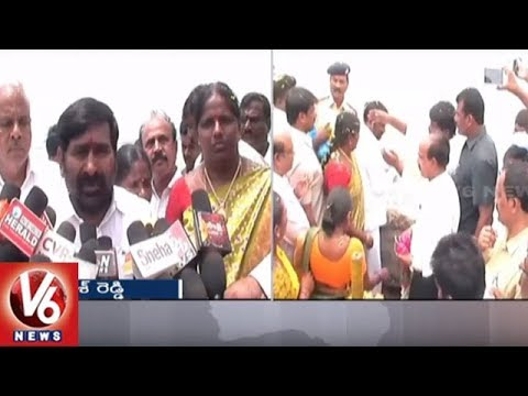 Minister Jagadish Reddy Released Water to Left, Right Canals From Musi Project | V6 News