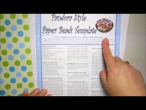 How to Make Pandora Style Paper Beads