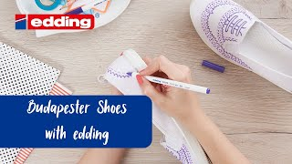 Decorate shoes in brogue-style - edding creative ideas