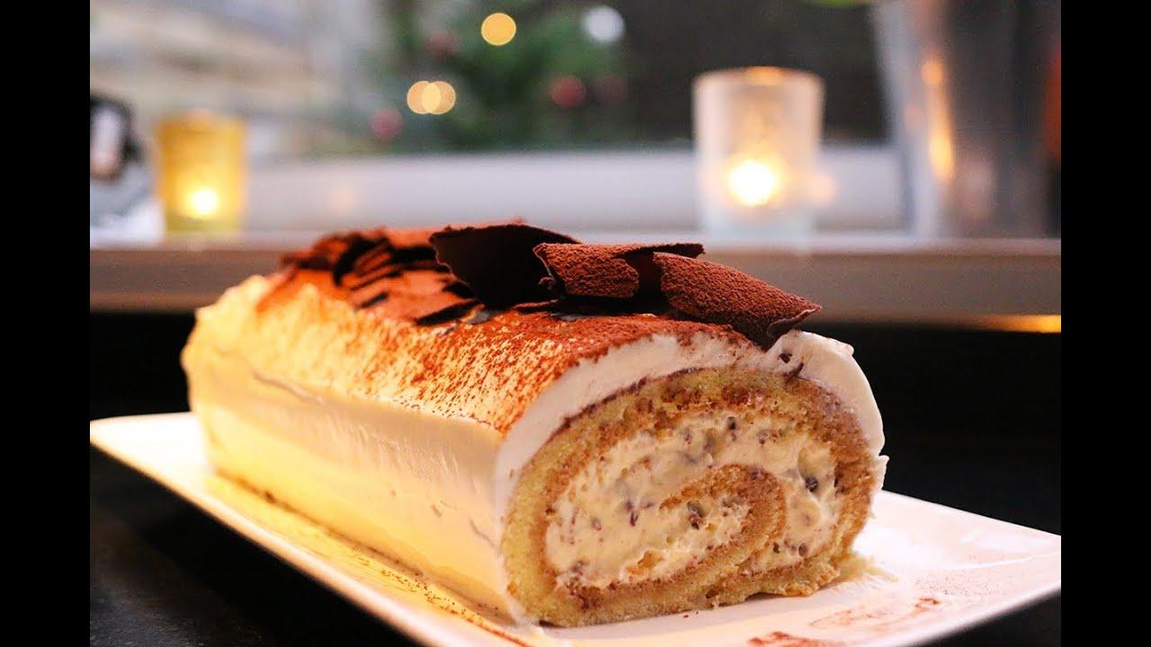 Recette de la b che tiramisu de no l by herv cuisine youtube - Recette pancakes herve cuisine ...