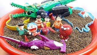 đồ chơi Doremon - Người nhện đánh gao cá sấu giúp Nobita