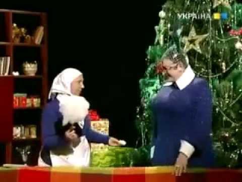 В. Сердючка готовит новогодний салат Українське щастя