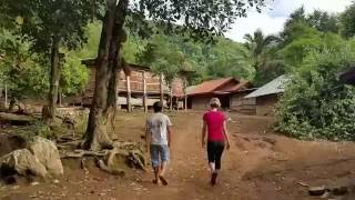Morning walk to store in Long Ngeth (Hmong Village in Laos)