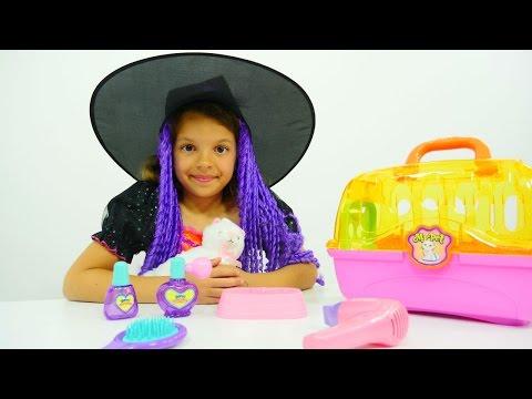 Маленькая ведьмочка Кати - Видео с игрушками - Колдуем игрушки