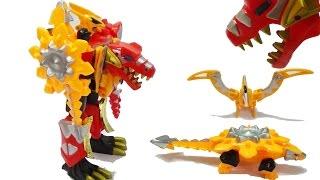 Lắp ráp robot siêu nhân khủng long biến hình