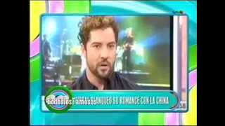 AM-David Bisbal blanqueó su romance con la China Suarez