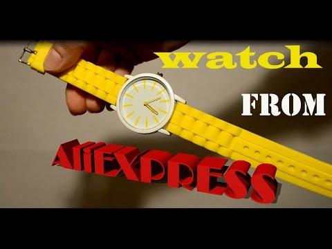 Желтые часы c Алиэкспресс Aliexpress. Посылка с Алиэкспресс. Watch from Aliexpress