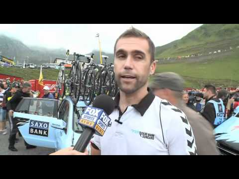 Brad McGee talks about Contador in stage 12