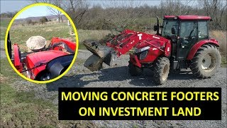 Project 211 LAND INVESTMENT LAST PROJECT!! MOVING CONCRETE BLOCKS PART 1