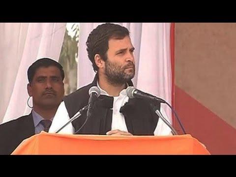 Rahul Gandhi hits out at PM Modi at Delhi rally