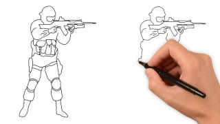 Как рисовать спецназ поэтапно
