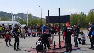 Even Idland - 200kg/160kg Atlasstone for reps @ Norway Strongman Cup - Hordaland 2019