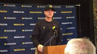 Jim Harbaugh's Noon Presser