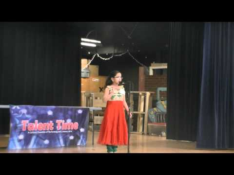 Won 2nd Place - Kagw Talent Time 2014 - Shriya's Malayalam Poetry Recitation- Ente Bhasha video