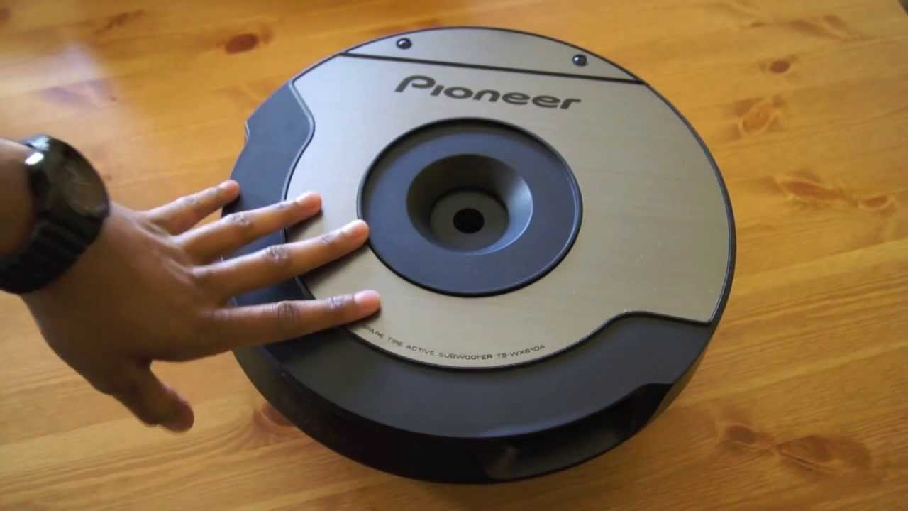 pioneer ts wx610a spare tyre active subwoofer review youtube. Black Bedroom Furniture Sets. Home Design Ideas